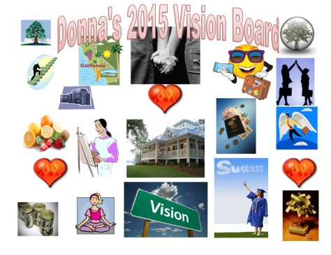 Donnas 2015 Vision Board